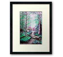 Memory of Woodland Creek Framed Print