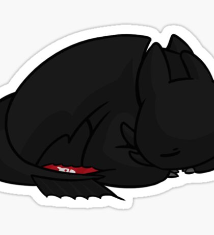 Sleepy Toothless Sticker