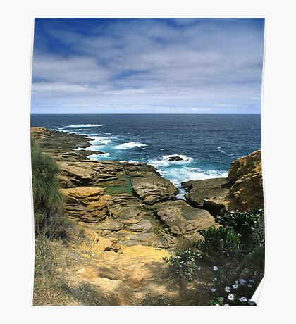 """Where Land Meets Sea"" ∞ Bermagui, NSW - Australia Poster"