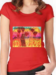 Hawaiian Sisters T-Shirt Women's Fitted Scoop T-Shirt