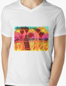 Hawaiian Sisters T-Shirt Mens V-Neck T-Shirt