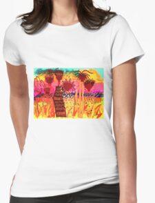 Hawaiian Sisters T-Shirt Womens Fitted T-Shirt