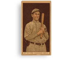 Benjamin K Edwards Collection Matthew McIntyre Chicago White Sox baseball card portrait 001 Canvas Print