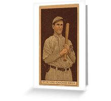 Benjamin K Edwards Collection Matthew McIntyre Chicago White Sox baseball card portrait 001 Greeting Card