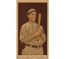 Benjamin K Edwards Collection Matthew McIntyre Chicago White Sox baseball card portrait 001 Photographic Print