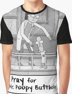 Pray for Mr. Poopybutthole - Rick & Morty Graphic T-Shirt
