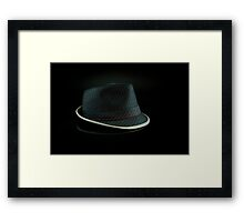 Black Hat on Black Framed Print