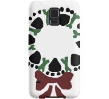 Funny Paw Prints and Biscuits Christmas Wreath Samsung Galaxy Case/Skin