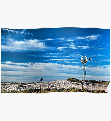 Mungo Morning - Mungo NP, NSW Poster