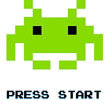 SPACE INVADERS RETRO PRESS START ARCADE TSHIRT Photographic Print