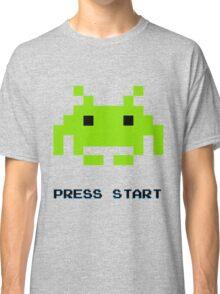 SPACE INVADERS RETRO PRESS START ARCADE TSHIRT Classic T-Shirt