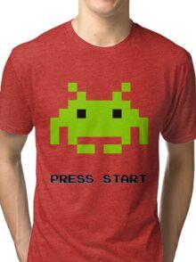 SPACE INVADERS RETRO PRESS START ARCADE TSHIRT Tri-blend T-Shirt