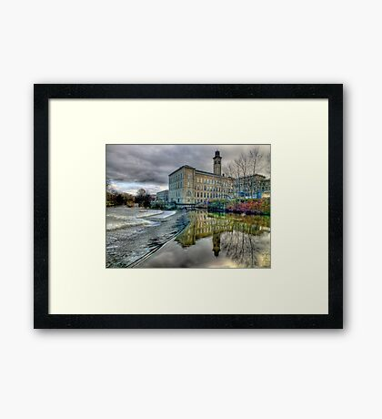 Salts Mill - HDR Framed Print