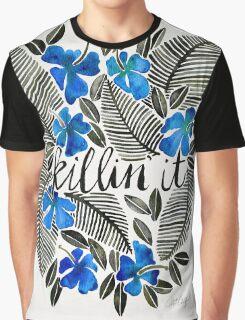 Killin' It – Tropical Blue Graphic T-Shirt