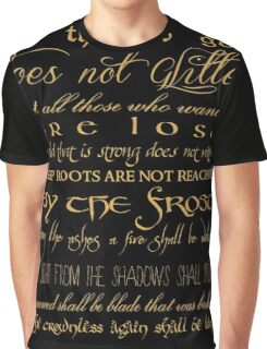 Riddle of Strider Poem Graphic T-Shirt