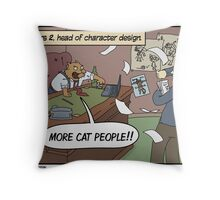 Guilds! Guilds everywhere! Also cats. Throw Pillow