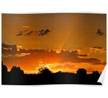 Inglewood Sunset -  Last sunset of 2011 - Qld Australia Poster