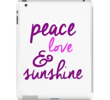 Peace Love & Sunshine iPad Case/Skin