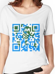 QR World Map Women's Relaxed Fit T-Shirt