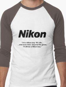 Nikon boy 'till i die! Men's Baseball ¾ T-Shirt