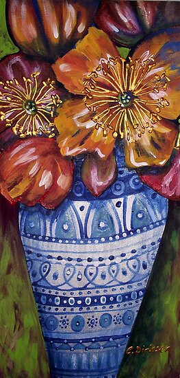 Vase of Poppies by Cherie Roe Dirksen