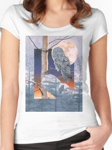 Grey Mist Women's Fitted Scoop T-Shirt