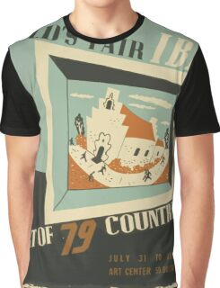 WPA United States Government Work Project Administration Poster 0742 World's Fair IBM Show Graphic T-Shirt