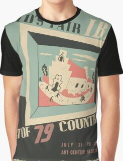 WPA United States Government Work Project Administration Poster 0744 World's Fair IBM Show Graphic T-Shirt