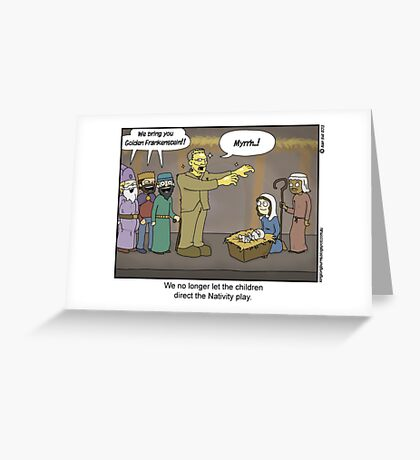 The greatest story ever told by children. Greeting Card