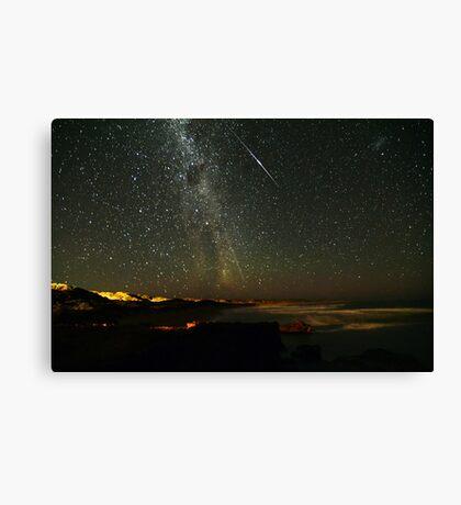 Comet Lovejoy with Iridium Flare Canvas Print