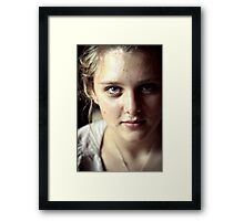 playing in the shadows. Framed Print