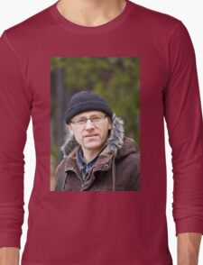 Portrait of man in light of the natural Long Sleeve T-Shirt
