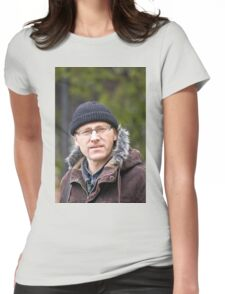 Portrait of man in light of the natural Womens Fitted T-Shirt