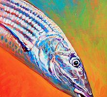 Bonefish Portrait- Bone fish art by Mike Savlen by Mike Savlen