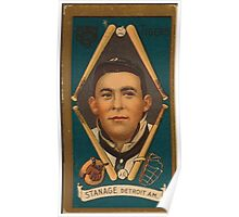 Benjamin K Edwards Collection Oscar Stanage Detroit Tigers baseball card portrait 001 Poster