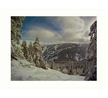 Descending backcountry Art Print