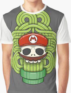 Mario Skull Graphic T-Shirt