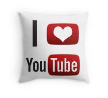 I Heart Youtube! Throw Pillow