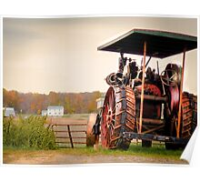 Amish Steam Tractor Poster