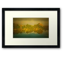 Riverside with the reflections Framed Print