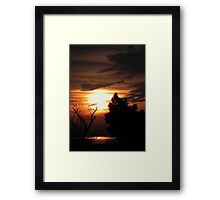 The only sound is nature as dawn breaks!!! © Framed Print
