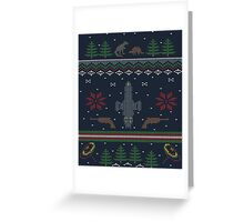 Ugly Firefly Christmas Sweater Greeting Card