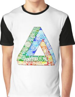 Penrose Triangle and the Primary Colours Graphic T-Shirt