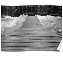 Pier Reflections Poster