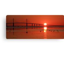 Sunshine Skyway sunrise Canvas Print
