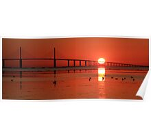 Sunshine Skyway sunrise Poster