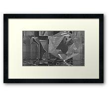 B&W Crystaline Blocks Framed Print