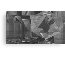 B&W Crystaline Blocks Canvas Print