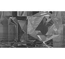 B&W Crystaline Blocks Photographic Print
