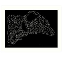 Race Tracks to Scale - Plain Layouts (Inverted) Art Print